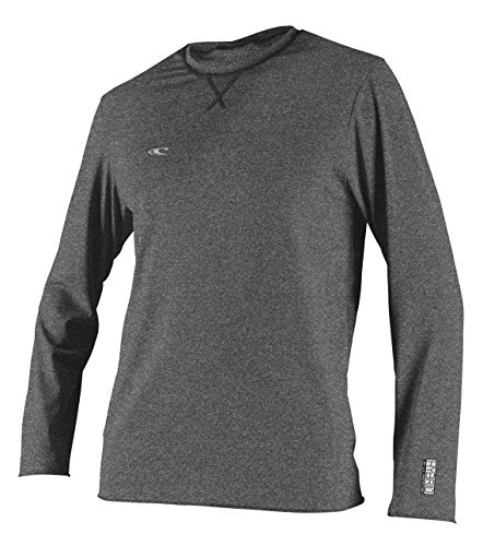 O'Neill Wetsuits Men's Basic Skins UPF 50+ Long Sleeve Sun Shirt, Hybrid Graphite, Large