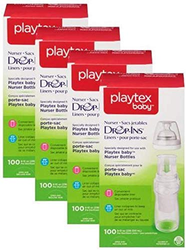 Playtex Baby Nurser Drop-Ins Baby Bottle Disposable Liners, Closer to Breastfeeding, 400 Count