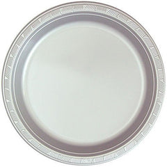 Hanna K. Signature Collection 100 Count Plastic Plate, 10-Inch, Silver