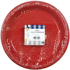 Hanna K. Signature Collection Plastic Plate, 50 Plates, 10-Inch, Red