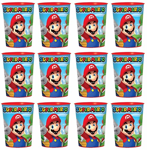 Super Mario Lot of 12 16oz Party Plastic Cup ~Party Favor Supplies~ by SuperMario