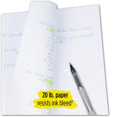 "Five Star Loose Leaf Paper, 3 Hole Punched, Reinforced Filler Paper, Wide Ruled, 10-1/2"" x 8"", 100 Sheets/Pack, 3 Pack (38033)"