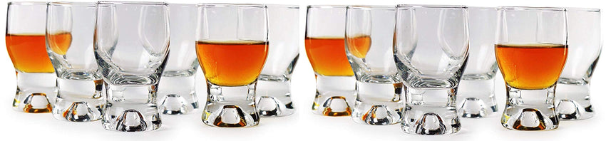 Circleware Tipsy Shot Glasses (Tipsy (Clear) - 12 pc.)