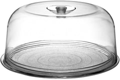Bormioli Rocco Ginevra Cake Platter With Plastic Dome, Gift Boxed