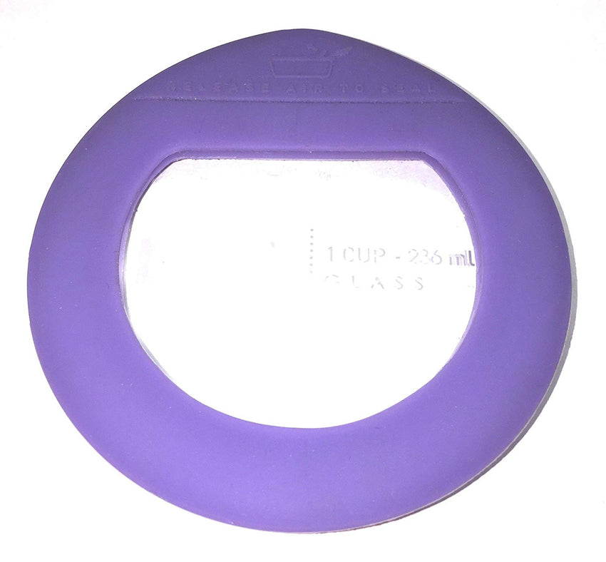 Pyrex 2 Piece Glass Purple Replacements Lids For The Ultimate 1 Cup Food Storage Set (2 Piece Purple Glass Lids, Purple)