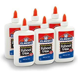 Elmer's Washable No-Run School Glue, 4 oz (6 Pack)