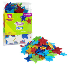 Creative Hands 81286E Glitter Foam Stickers, Stars
