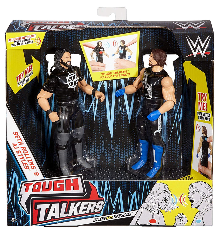 WWE Tough Talkers Seth Rollins & AJ Styles Figure, 2 Pack