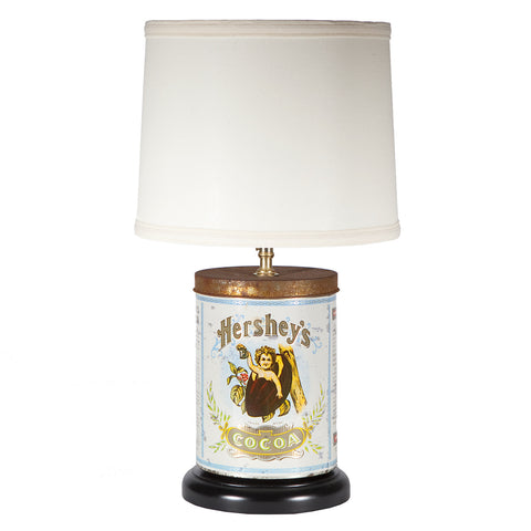 Hershey's Cocoa Tin Table Lamp