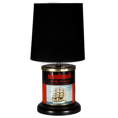 Vintage Ship Tobacco Caddy Lamp