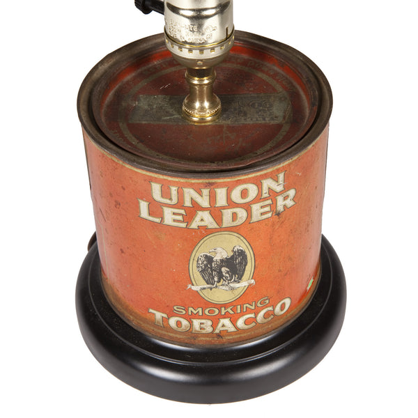Vintage Red Tobacco Caddy Lamp