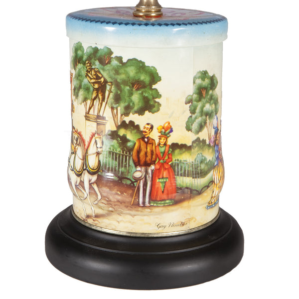 Small Vintage Park Scene Caddy