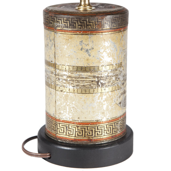Vintage Rustic Coffee Canister Kitchen Lamp