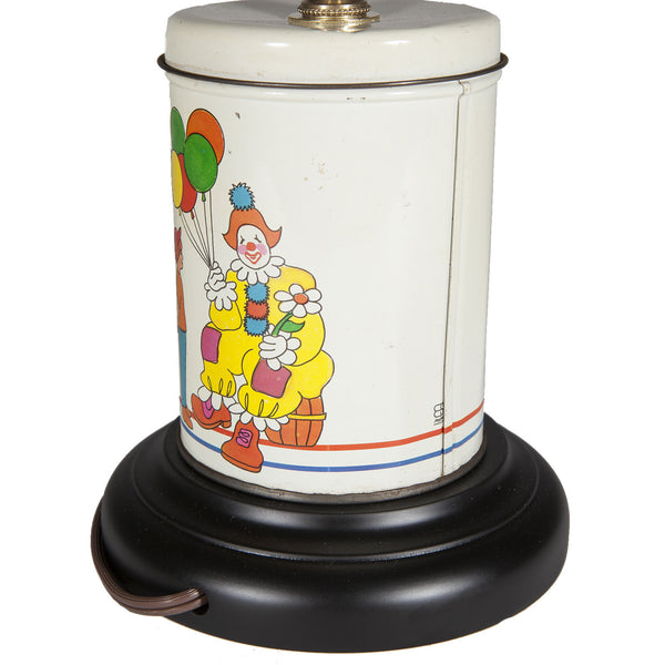 Vintage Circus Clown & Balloons Caddy Kids Lamp