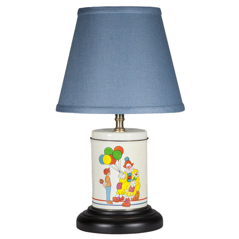 Vintage Clown & Balloons Caddy Kids Lamp