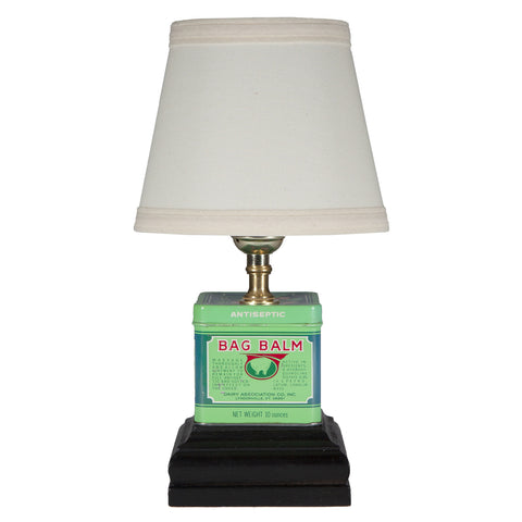 Mini Green Square Metal Table Lamp
