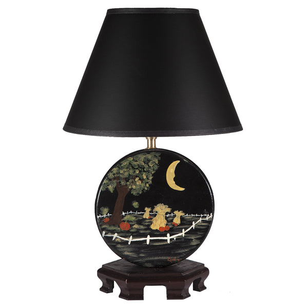 Vintage Folk Art Halloween Lamp