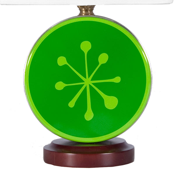 Unique Holiday Green Snowflake Tin Lamp