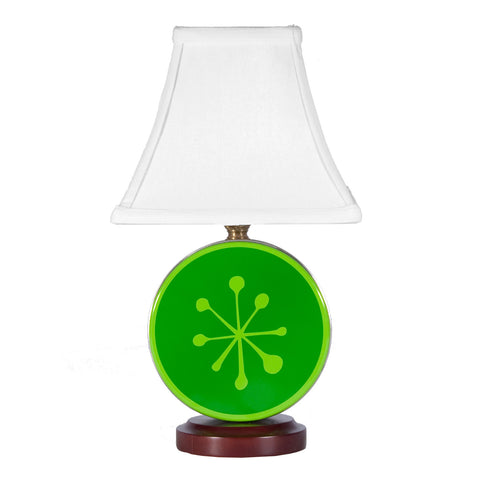 Green Snowflake Tin Lamp by LampStoreOriginals