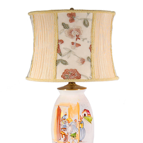Charming Unique Italian Ceramic Lamp