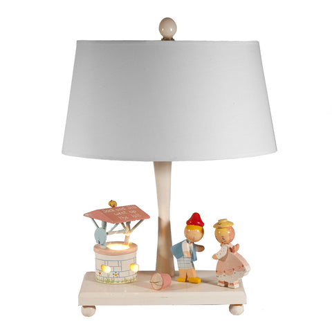Vintage Jack & Jill Nursery Lamp with Night Light