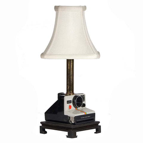 Vintage Polaroid Camera Lamp