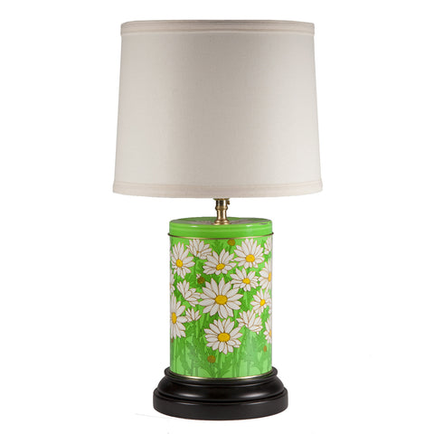 Retro Daisy Canister Table Lamp