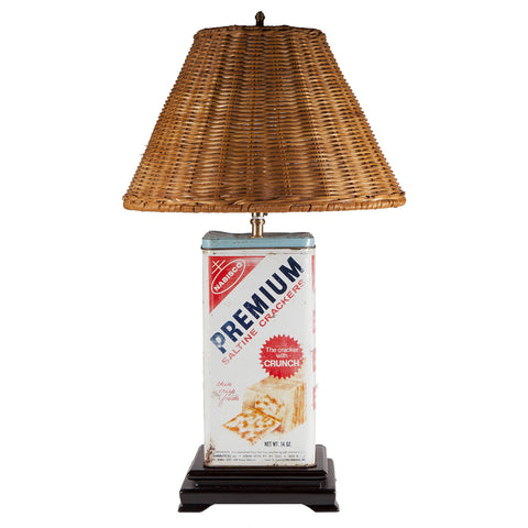 Vintage Nabisco Cracker Tin Lamp