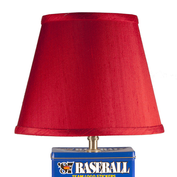 Vintage Baseball Trading Card Box Lamp