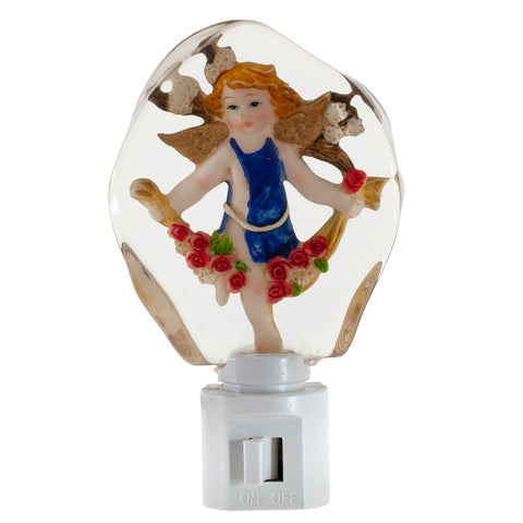 Sweet Cherub Night Light - Plug In Night Angel - Acrylic Unique Nite Lite