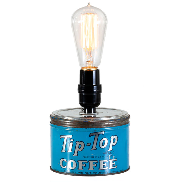 Vintage Coffee Tin Up-cycled Kitchen Lamp