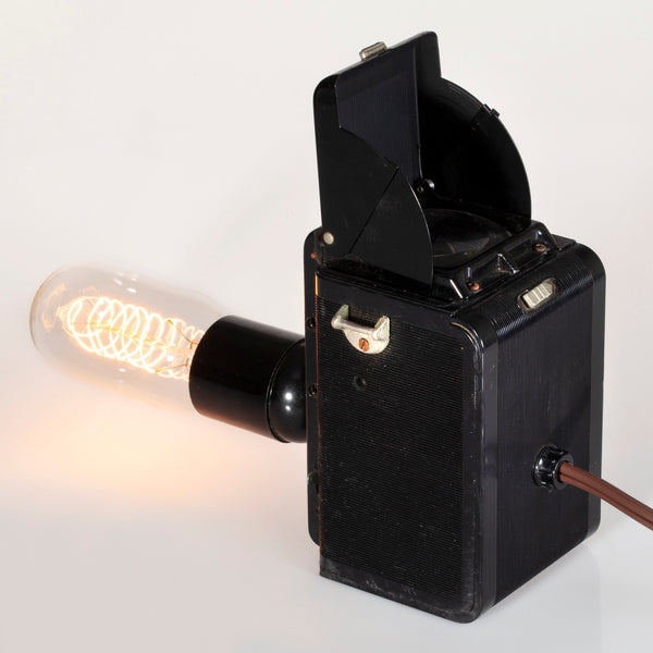 Unique Vintage Ansco Rediflex Camera Lamp with Filament Lightbulb