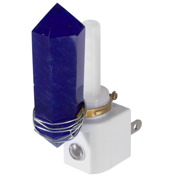 Blue Crystal Night Light - Automatic Sensor Plug-In LED Nightlight