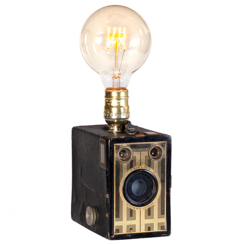 Vintage Art Deco Camera Lamp - Brownie Junior Six Base