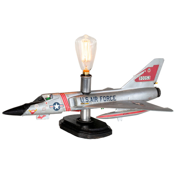Unique Lamp Upcycled from Vintage U.S.Air Force Airplane Model