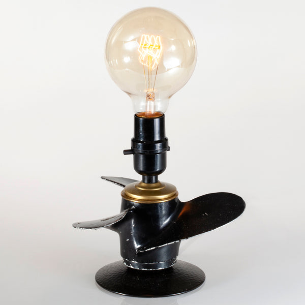 Vintage Boat Propeller Lamp with Large New Filament Lightbulb