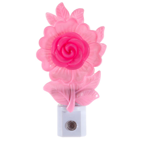 Pink Flower Night Light - Unique Automatic Sensor Nite Lite