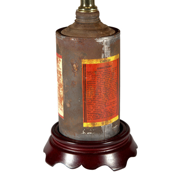 Vintage Rustic Metal Tin Lamp