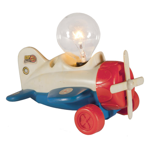 Vintage Toy Airplane Mini Lamp