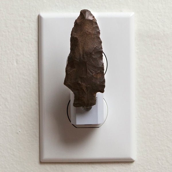 Unique Night Light Handcrafted from Stone Arrowhead