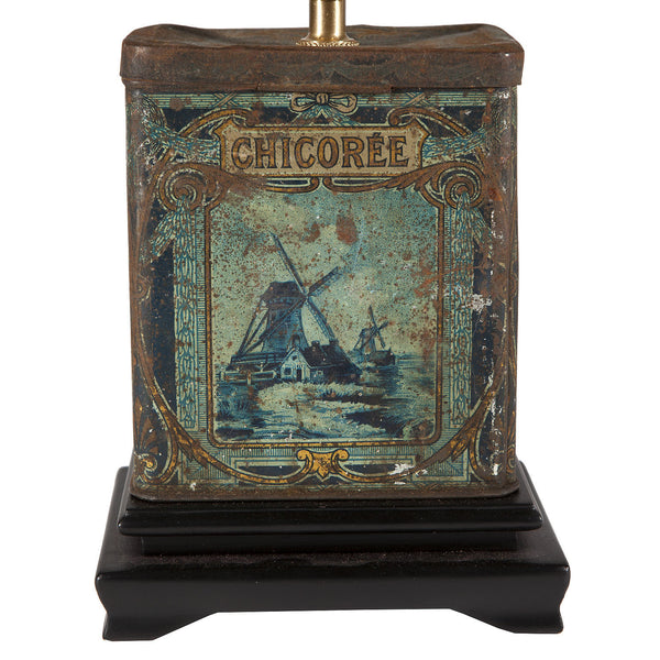 Vintage Blue Chicoree Caddy Lamp