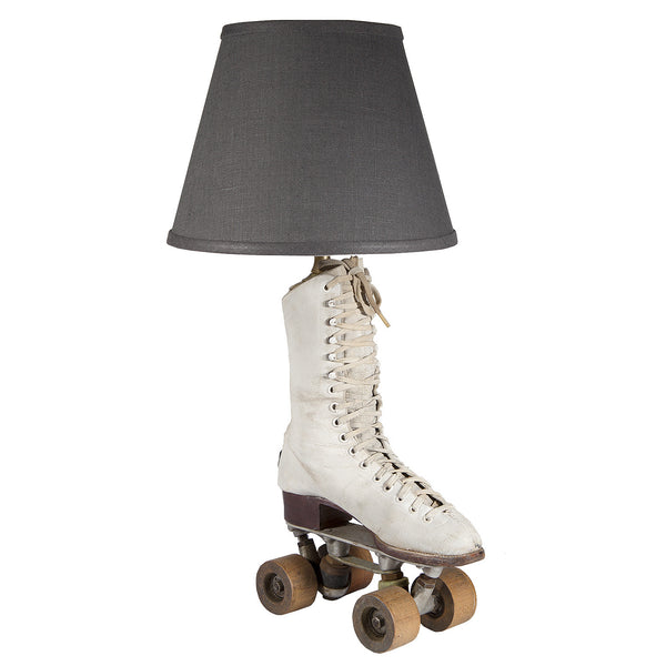 Vintage Roller Skate Lamp with New Lamp Shade