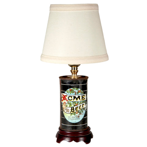 XX Vintage Acme Beer Can Lamp