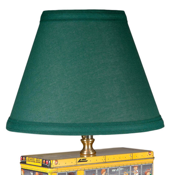 Vintage School Bus Lamp with New Lampshade