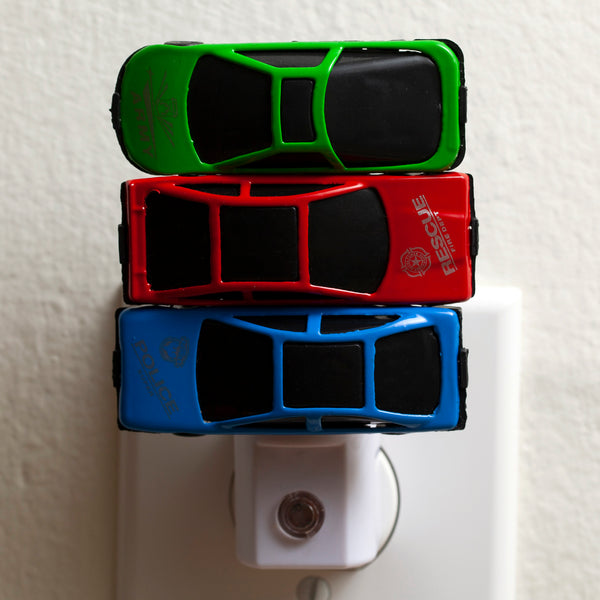 Stacked Cars Night Light LED Plug In Auto Sensor Nightlight