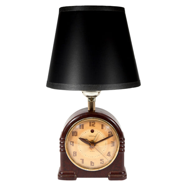 Mini MidCentury Alarm Clock Accent Lamp