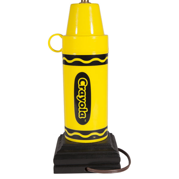 Bright Yellow Crayola Crayon Kids Lamp