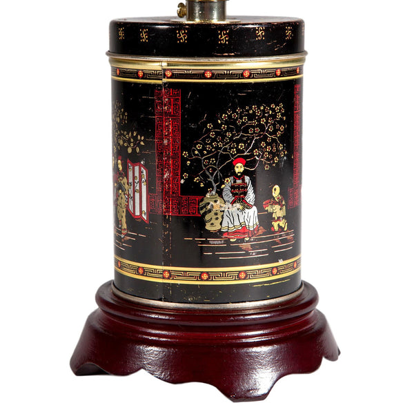 Mini Vintage Asian Caddy Lamp