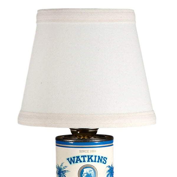 Small Vintage Blue White Kitchen Container Lamp