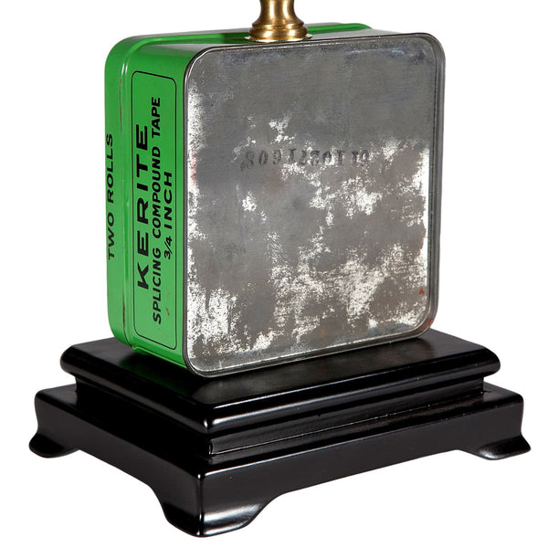 Vintage Small Green Tape Tin Lamp